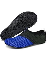 Msjenny Chaussures Aquatiques pour Homme Femme Chaussures de Yoga de Nager de Surf de Plage Pieds Nus à Séchage Rapide Aqua Chaussettes