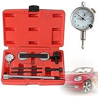 SHIOUCY Motor Ajuste portaherramientas Cambio de Cadena de impuestos Reloj comparador Soporte + Reloj de medición