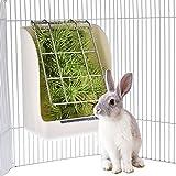KIOPS Ratelier a Foin Lapin, Gamelle et Râtelier à Foin pour Cage D'intérieur, Polyvalent pour Toute Cage Métallique, Résistance aux morsures