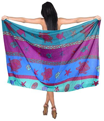 La Leela Pareo Strand vertuschen Kleid Wasser Frauen Sarong Rock wickeln 72x42 Zoll Grün