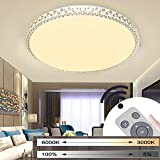 MYHOO 18W Dimmable LED Ceiling Light Starlight Effect Crystal Ceiling lamp Wall Lamp Suitable for Living Room Bedroom Round [Energy Class A+]