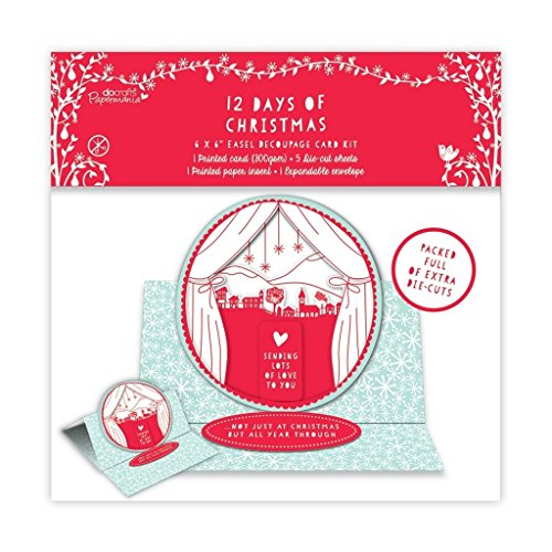 Papermania 15,2 x 15,2 cm Staffelei Mittelmeer + Die Cut Card Craft Kit – 12 Days of Christmas