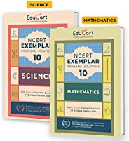 Educart Mathematics & Science NCERT Exemplar (Problems Solutions 2021) For Class 10 (Set of 2 Bo
