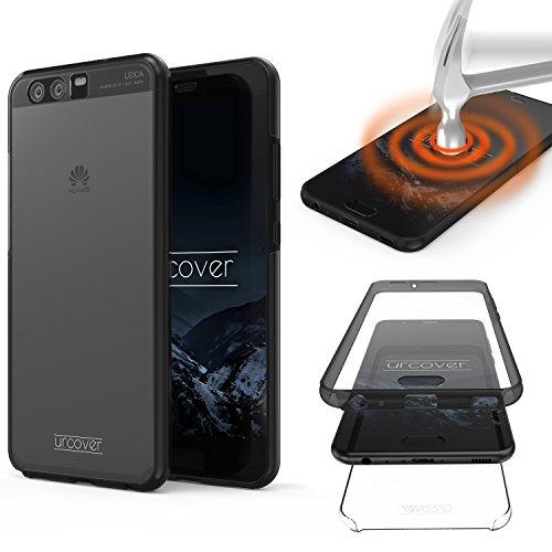 Urcover® Touch Case 2.0 kompatibel mit Huawei P10 Plus Hülle 360 Grad I Rundum Schutz in Grau Transparent I Vorder- und Rückseite I bekannt aus Galileo Pro 7 I Unterstützt kabelloses Laden (QI)