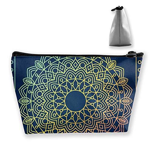 e Pattern Women Cosmetic Bags Multifunktions-Kulturbeutel Organizer Travel Wash Lagerung (Trapez) ()