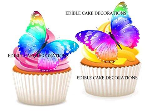 spapier, Regenbogen-Schmetterling, Cupcake-Topper, 24 Stück ()