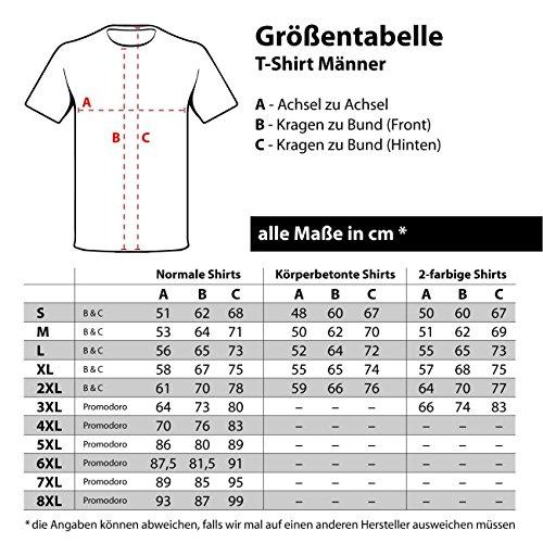 Männer und Herren T-Shirt Seine Exzellenz DER FLIESENLEGER Schwarz/Rot