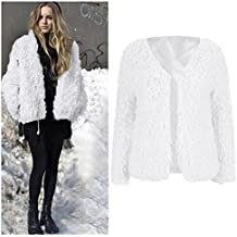 Abrigo para mujer,Longra ❤️ prendas de vestir las mujeres de otoño invierno elegante cálido abrigo largo de piel sintética de pelo chaqueta Outwear