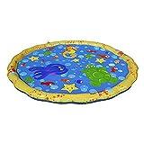 Wassermatte Wasserspielmatte Sprühmatte Wasserfontäne für Kleinkinder Sommer Badespaß mit zahllosen Wasserstrahlen Rund Durchmesser 100cm