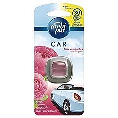 Idea Regalo - Ambi Pur Car Deodorante per Auto con Clip, Fiori Delicati, 2 ml