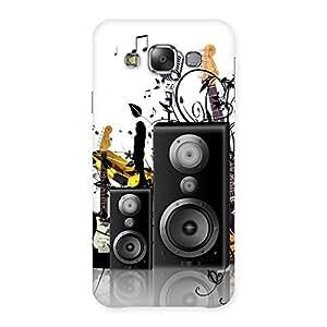 Cute Music Comp Multicolor Back Case Cover for Galaxy E7