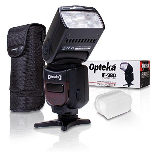 Opteka Pro E-TTL Autofokus + Systemblitz für Canon EOS 80D, 77D, 70D, 60D, 60Da, 50D, 7D, 6D, 5D, 5DS, 1Ds, t7i, T7S, T7, T6s, t6i, T6, T5i, T5, T4i, SL2& SL1Digital SLR Kameras