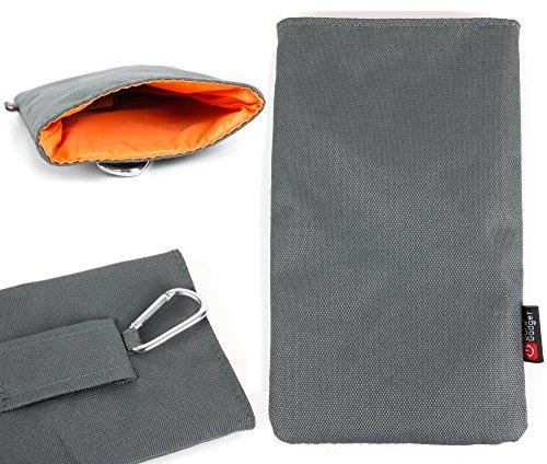 DURAGADGET Funda Acolchada Para Nintendo 3DS XL + Mini Mosquetón | Interior En Color Naranja - Alta Calidad