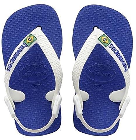 Havaianas Kinder Flip Flops Baby Brasil Logo Grösse 25/26 Marine