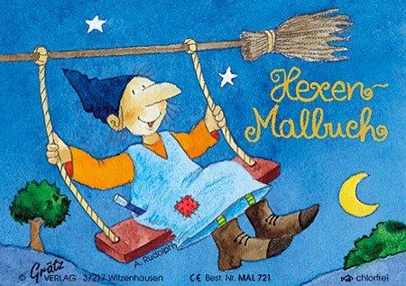 Mini-Malbuch * HEXE * vom Grätz-Verlag // Kinder Geschenk ausmalen Mitbringsel Kreativ Spass Spiel Halloween