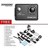 Peanutaod Peanutaod SOOCOO Voice Control S100Pro wasserdichte Tätigkeits-Kamera WiFi 4K HD 2.0 Touch Screen-Sport-Kamera mit Mikrofon GPS-Erweiterung