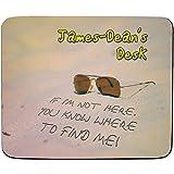 James-dean de Desk?SI Je ne suis pas ici, vous Savez où trouver Me?Motif plage?personnalisé Nom Tapis de souris?Premium (5mm d'épaisseur)