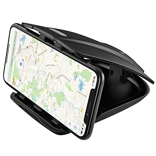 Soporte Móvil Coche para Salpicadero, Mpow Soporte Pinza de Teléfono para Mesa, con Tres Ranuras, Uso Horizontal y Vertical, para iPhone X/ 8 Plus/8/ 7 Plus/ 6 6S Plus, Xiaomi, Navman GPS, etc.