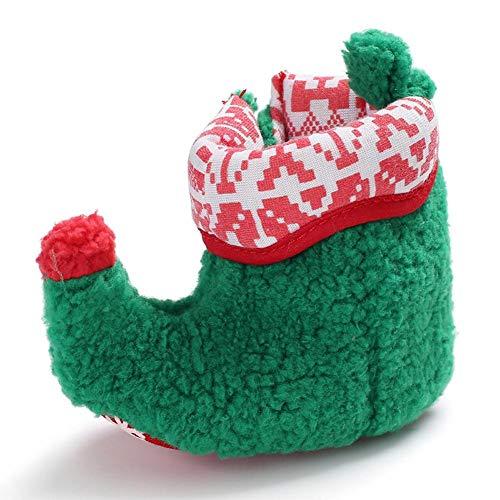 Kleinkind Schuhe Mädchen, komfortabel und warm Horn Design Kleinkind Weihnachten Schuhe für die Unterstützung von Baby Jungen und Babys stehen/gehen auf Winter Saison (0-2 Jahre)