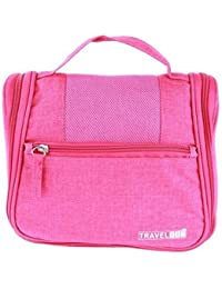 LAZYKARTS® 2017 Hot Sale Portable Wash Bag Make Up Cosmetics Bag Case Toiletry Organizer Storage-PINK