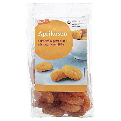 tegut... 6er Pack Ganze getrocknete Aprikosen 200 g - Trockenfrüchte entsteint ungezuckert ungeschwefelt mit natürlichen Ballaststoffen - Vorteilspack 6x200g