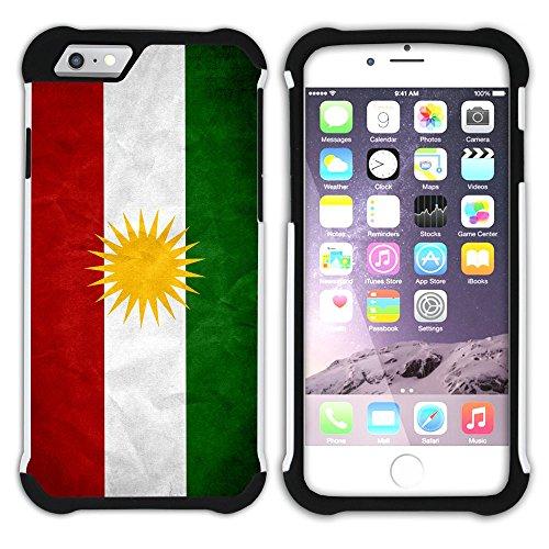 Graphic4You Vintage Uralt Flagge Von Neuseeland Neuseeländer Design Hart + Weiche Kratzfeste Hülle Case Schale Tasche Schutzhülle für Apple iPhone 6 / 6S Kurdistan Kurdisch