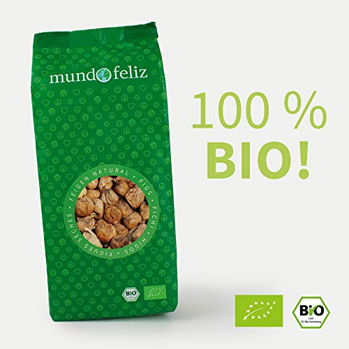 Mundo Feliz Trockenfeigen aus Bio-Anbau, 2 x 500 g