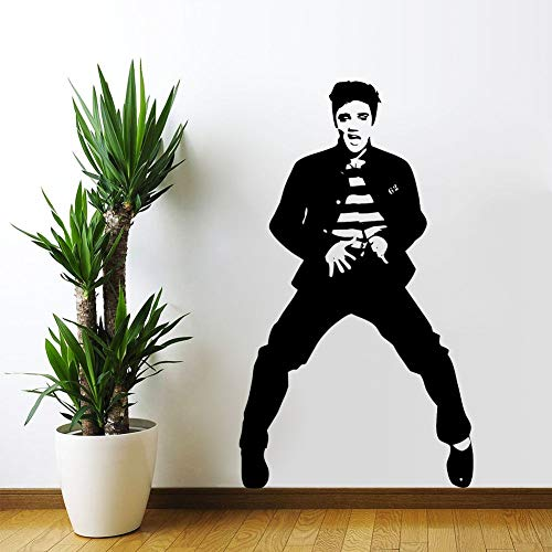 yaoxingfu Große Elvis Presley King of Rock Vinyl Aufkleber Aufkleber abnehmbare Kunst Wandhaupt Aufkleber Art Lving Zimmer Wand Papier Karte Farbe 42x75cm