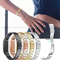 Für Fitbit Flex Zubehör Ersatz Armband, Luxus-Edelstahl - Metall Schließe Uhr Buckle Design Armband Halter Tasche für 2018 Fitbit Flex Fitness Activity Tracker