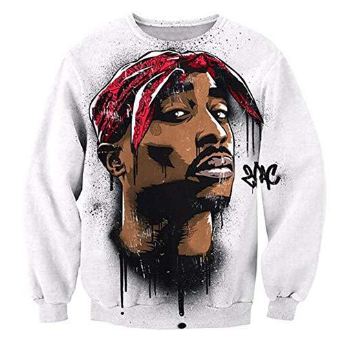 SU Ropa Tupac Sudadera Hip Hop Jersey Jumper 3D Print