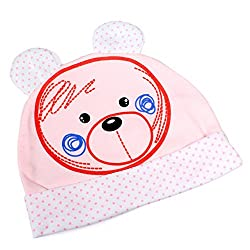 Baby Station Soft Cotton Cartoon Printed Baby Cap Pink