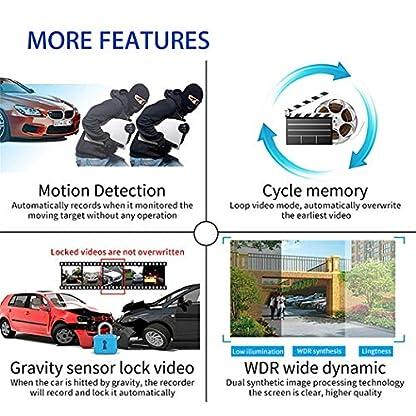 SHL-CAR-Auto-Dash-Cam-2160P-Full-HD-170-Grad-Weitwinkel-vorne-und-hinten-Dual-Objektiv-Nachtsichtkamera-mit-WiFi-und-GPS-WDR-ADAS-Zyklusaufnahme-Bewegungserkennung