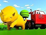 Lerne Formen mit Dino dem Dinosaurier : Roten Auto