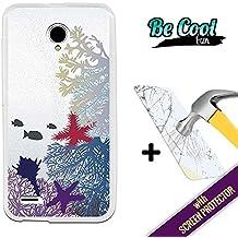 Becool® Fun- Funda Gel Flexible para Vodafone Smart Prime 6 [ +1 Protector Cristal Vidrio Templado ]Carcasa TPU fabricada con la mejor Silicona, protege y se adapta a la perfección a tu Smartphone y con nuestro exclusivo diseño Corales y peces