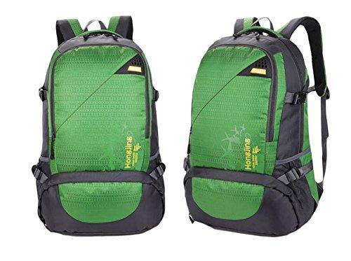 Borsa 45L di corsa della spalla di grande capienza Outdoor Alpinismo pacchetto Movimento Tempo libero , purple Green