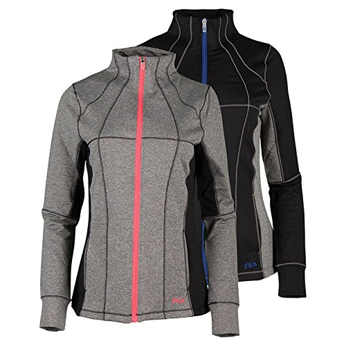 Premiere Coral (Fila Women's Premier Jacket, Varsity Heather, Black, Coral Cake, XL)