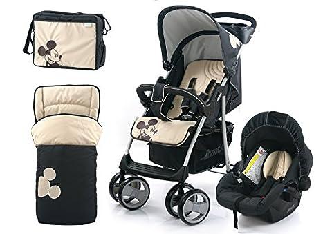 Hauck Disney Mickey Poussette pour bébé avec Shop N Drive