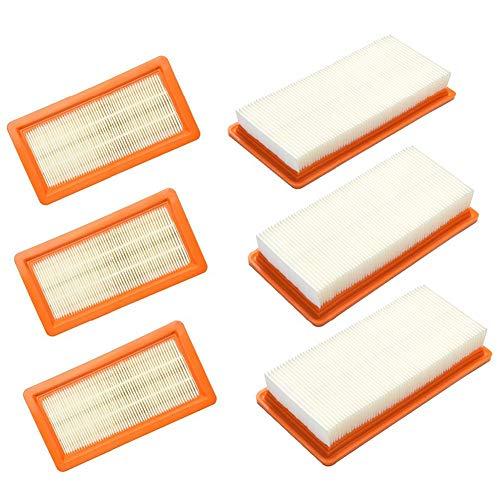 Nrpfell 6er Pack Ersatzfilter Fuer Karcher DS5500 DS5600 DS5800 DS6000 Filterpatrone Typ 6.414-631.0 DS Reinigungsteil