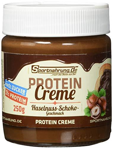 Sportnahrung Protein Creme - die eiweißreiche, zuckerarme Schokocreme für Sportler und Gesundheitsbewusste (Haselnuss), 250 g