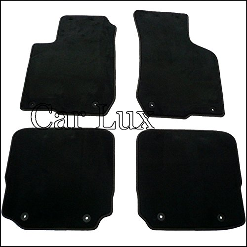 Car Lux - AR00977 Alfombrillas Alfombras a medida A3 8L HIGH LINE Velour negro/antracita