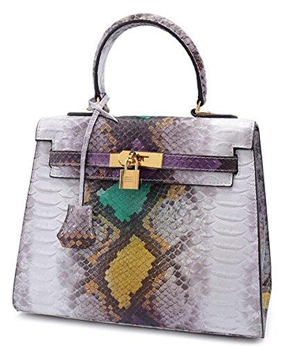 Xinmaoyuan Sacs à main pour femme en cuir sac à main Fashion Serpentine Paquet diagonale de l'épaule Sac à main en cuir Green