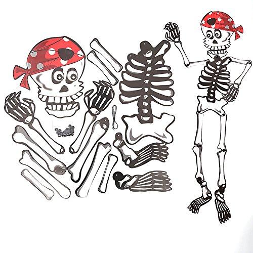 Skyeye Halloween Papier DIY Anhänger Urlaubsanordnung Requisiten(Skelett)