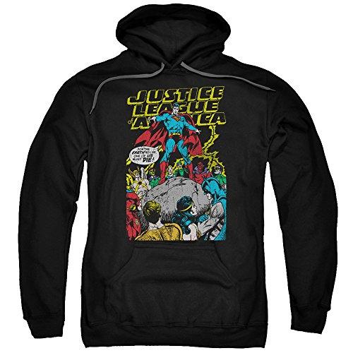 Justice League-Scarifice Ultimate-Felpa con cappuccio da uomo Nero