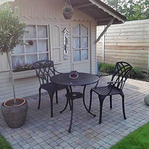 Lazy Susan – ANNA Gartentisch mit 2 Stühlen - 9