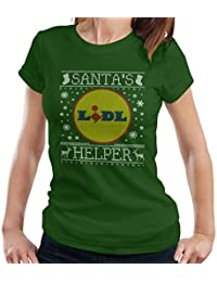 Coto7 Santas Lidl Helper Christmas Jumper Knit Pattern Womens T-Shirt