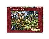 Heye 29660 - Standardpuzzle, Marion Wieczorek, Flora and Fauna Carnivores, 500 Teile