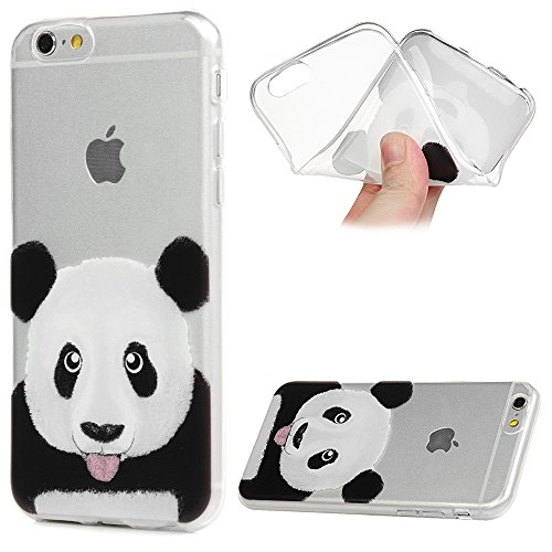 Coque de Protection iPhone 6 / iPhone6S YOKIRIN Silicone Douce Peinture Joli Leger Solide Protection Complete Panda Mignon