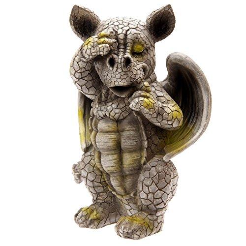 Puckator DRG313 Figurine Dragon Se Cachant Un Oeil