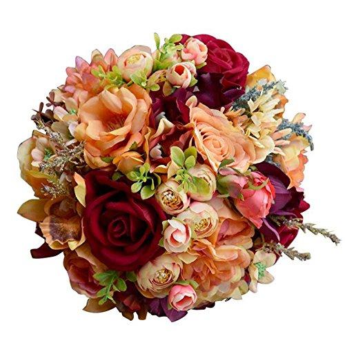 Simulations-Schaum-Rosen-Braut-Holding Flowers Wedding-Blumenstrauß-künstliche Blumen, die Geschenk Wedding sind ( Größe : Large )