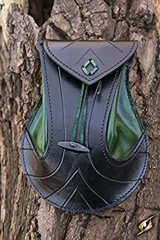 Femme Hobbit Costume - Sacoche pour ceinture en cuir tanné noir